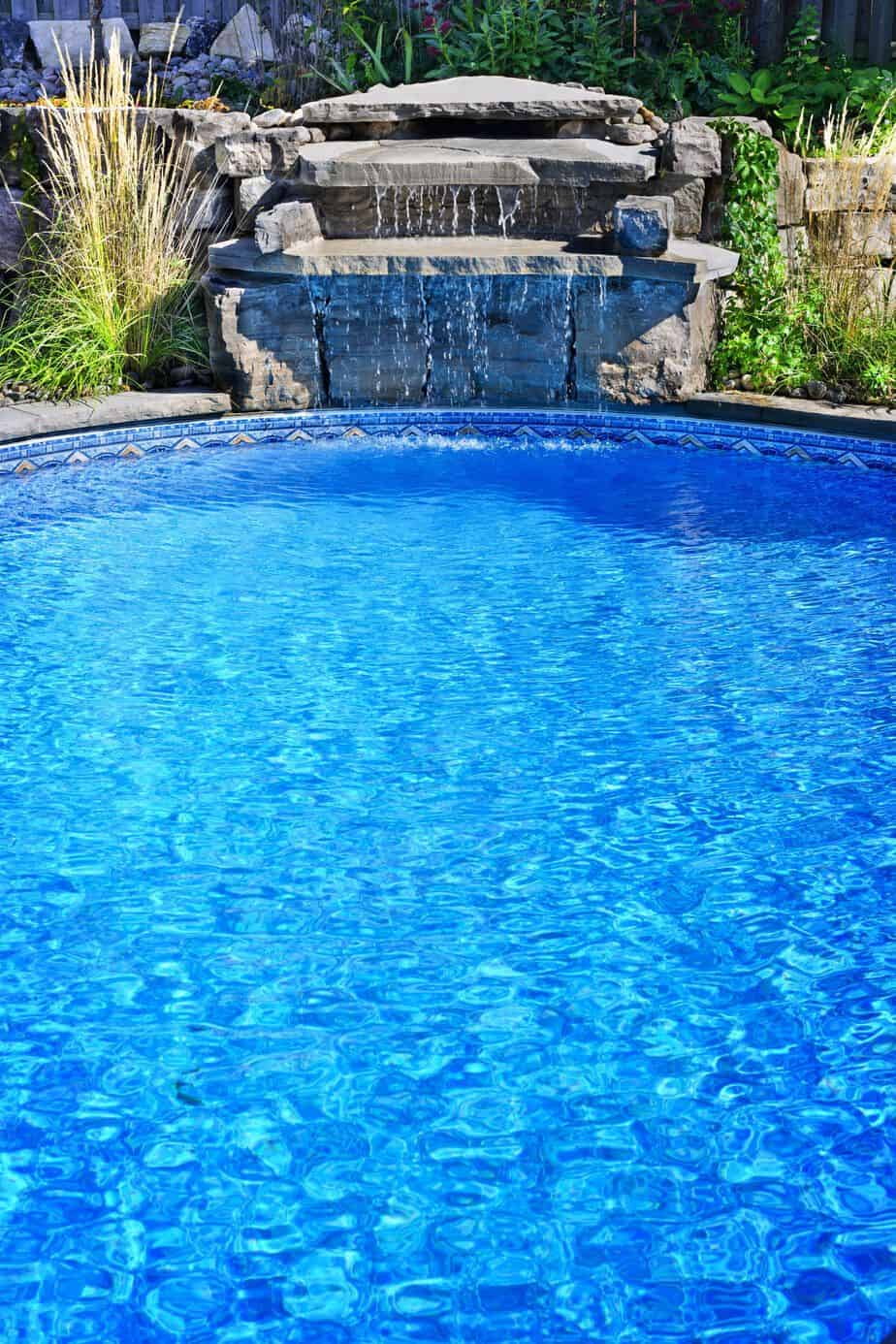 Recessed Above Ground Pool With Waterfall My Pool Place